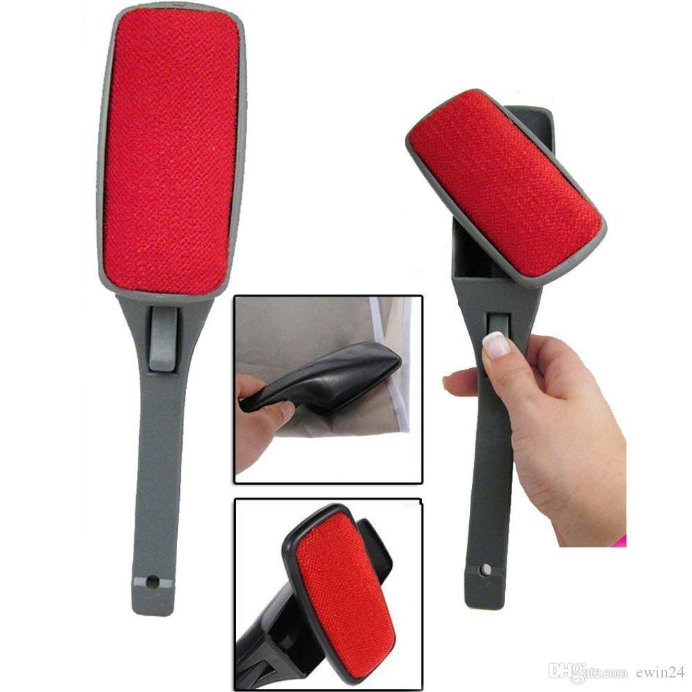 Powerful Magic Swivel Lint Brush Fabric and Clothes Cleaner Pet Hair Dust Remover comfortable grip handle design for trip