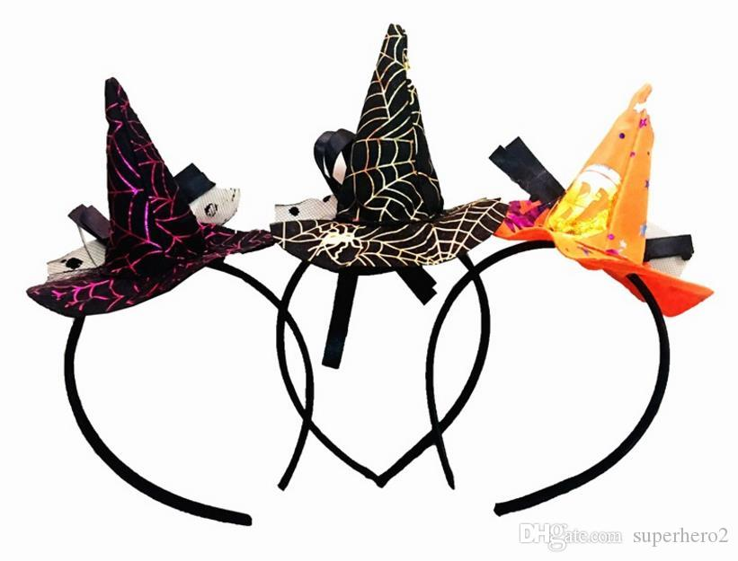 Mini diadema de tela de bruja diadema telaraña velo de Pascua accesorio de disfraces de halloween disfraces fiesta tocado de miedo