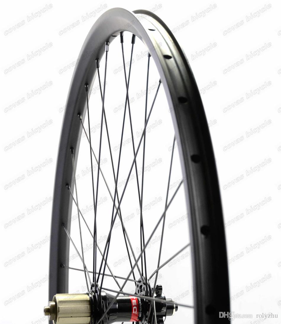 무료 운송 탄소 자전거 바퀴 hookless 29er 산악 자전거 wheelset 29inch MTB 자전거 오전 / XC 초경량 탄소 wheelset