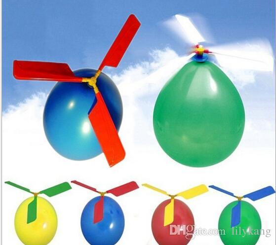 Balloon Helicopter kids flying Helicopter toy DIY amazing novelty flying arrow helicopters self-combined Balloon Helicopter free shipping