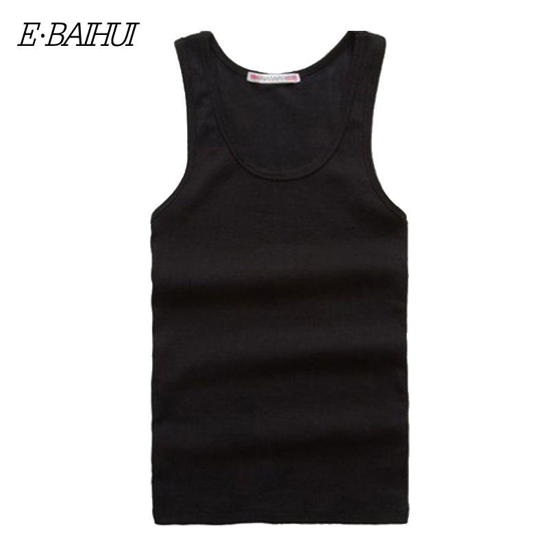 E-BAIHUI Marque Hommes Gym Réservoir Bodybuilding Réservoir Coton Casual Homme Tops Tees Sous-shirt De Mode Gilet Vêtements Pour Hommes 22151