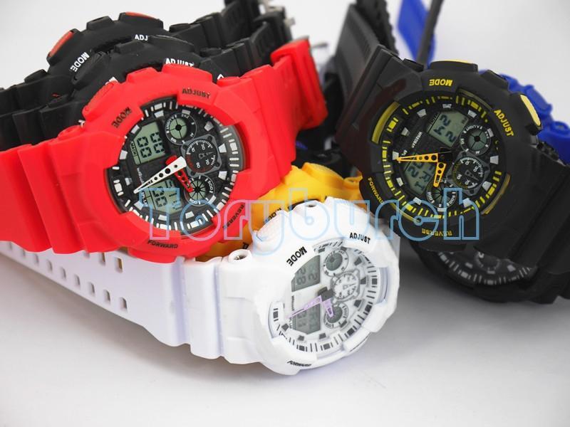 1 stücke Neue top relogio G100 männer sportuhren, LED chronograph armbanduhr militäruhr digitaluhr, gutes geschenk für, dropshipping