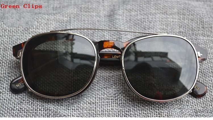 2017 высокое качество клипы два размера Джонни Депп стиль очки клип мужчины ретро винтаж поляризованные клип женщины солнцезащитные очки клипы 7 цвет