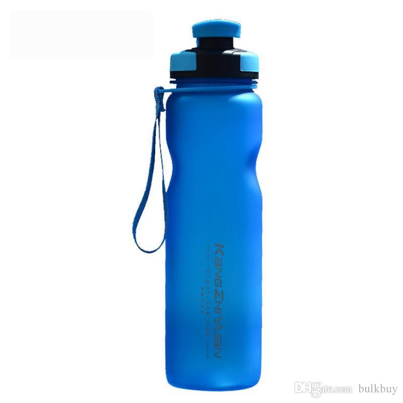 Kangzhiyuan 1000 ملليلتر ذات قدرة بلاستيكية زجاجة الرياضة في الهواء الطلق الدراجات كوب ماء المحمولة طحن الفضاء كأس