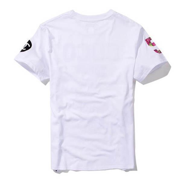 Europa Novo 2017 Verão Homme Femme NO 5 Moda de Alta qualidade Lado Zipper Tee Camisetas Homens Mulheres Flor Floral Imprimir Camiseta de Manga Curta