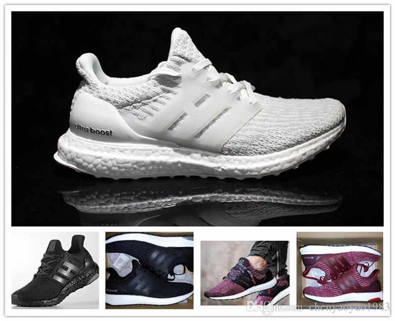 Best 2017 New Ultraboost 3.0 Running Shoes Men Women High Quality Ultra Boost 3 III White Black Athletic Shoes cheap sale eastbay discount cheapest price 65N6m21r