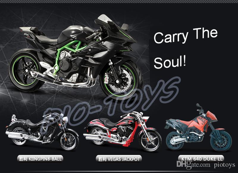 New Arrival Gift H2R 1/18 Model Motorcycle Car Collection House Decoration Alloy Metal Toys Static Mini Motorbike Friend Present