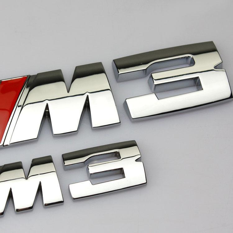 شعار ملصقات الذيل لBMW X6M X5 سيارة BMW 3 سلسلة 5 سلسلة M3 M5M1 M مصبع