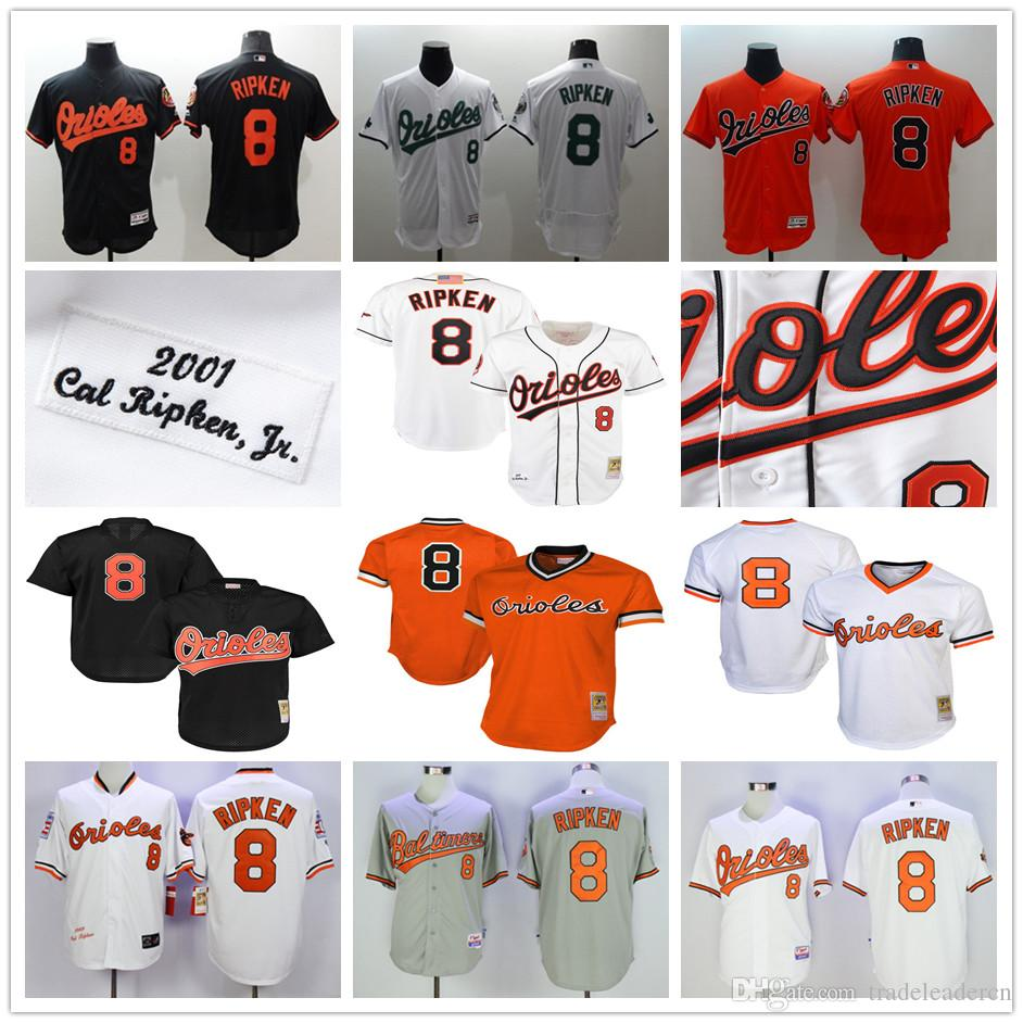 775571eef ... Throwback Baltimore Orioles 8 Cal Ripken Jr 1985 1988 1989 2001  Cooperstown Mesh Batting Practice Baseball ...