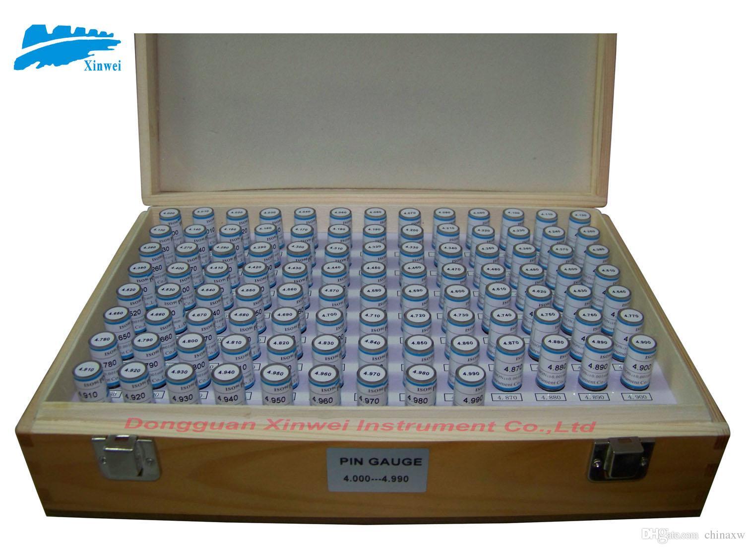 calibrador de pasadores / juego de calibradores de enchufe, 4.000 mm - 4.990 mm Intervalo: 0.01,100 unids, entrega rápida!