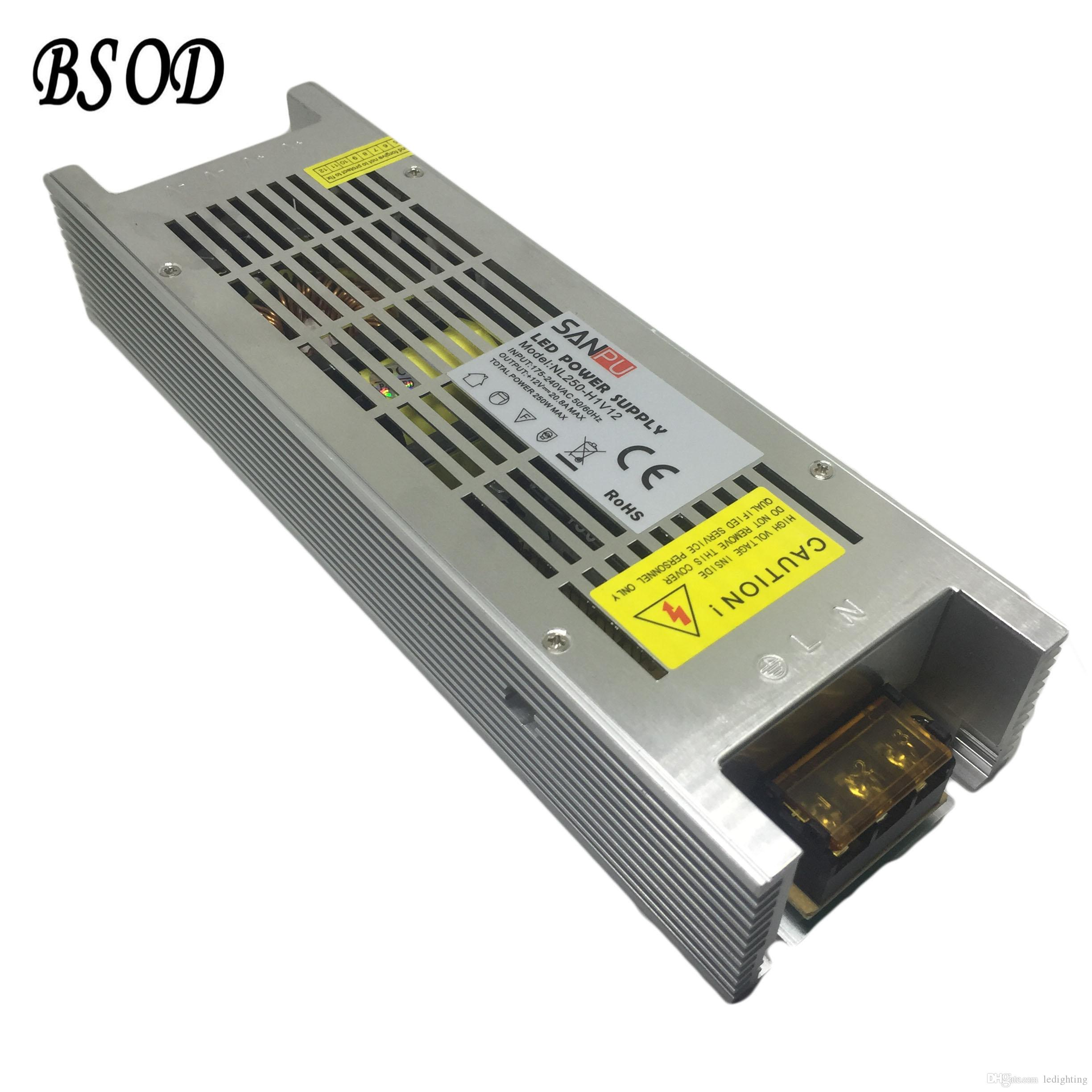 2018 Sanpu 250w Dc12v/Dc24v Switch Power Supply Ac To Dc Led Lighting  Transformer Nl250 W1v12 Ultra Thin Aluminum Shell 20.8a Max Driver From  Ledighting, ...