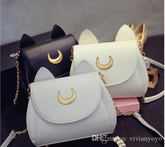 2017 New Latest Handbag Women Fashion Chain Bags Women Cute Sailor Moon  Bags Casual Cat Bag PU Ivanka Trump Handbags Best Messenger Bags From  Vivianyoyo, ... 656c4a7df3