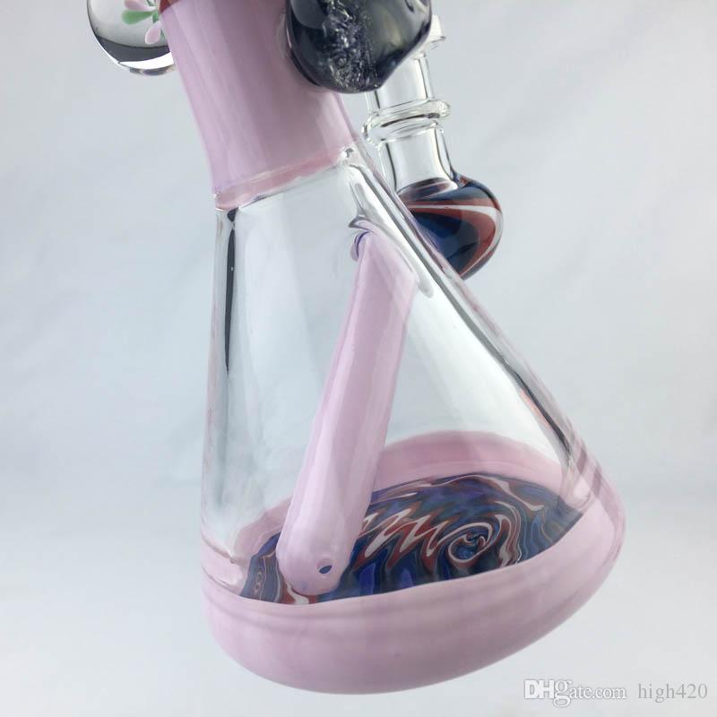 Новый цвет стекла Bongs Twisted Красочные стекла воды Трубы 14мм Мазки Rig с Quartz Banger масло Бонг Nail Курительные Oil Burner трубы