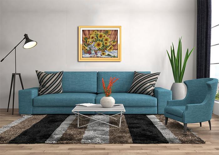 Renkli Ayçiçeği sepeti ev dekor resimleri, El Yapımı Çapraz Dikiş Nakış İğne Setleri tuval üzerine baskı sayılan DMC 14CT / 11CT