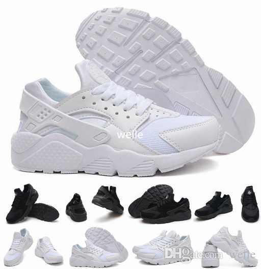 super popular b7f51 31941 Air Huarache Ultra Zapatillas Para Mujer Hombre, Hombre Mujer Blanco Triple  Negro Huaraches 1 Zapatilla Deportiva Zapatillas Huraches Zapato 36 46 Por  Weile ...