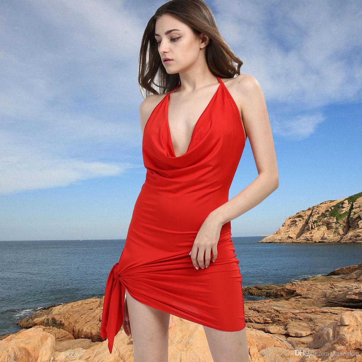 b02ed3e3d4 Sexy Dress 2017 Hot Sexy Dress Women Side Knot Mini Dress Club Wear ...