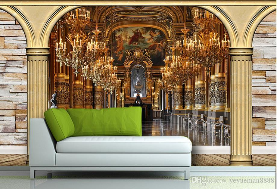custom wall papers home decor 3d stereoscopic wallpaper European background wall wallpapers for living room 3d wall murals