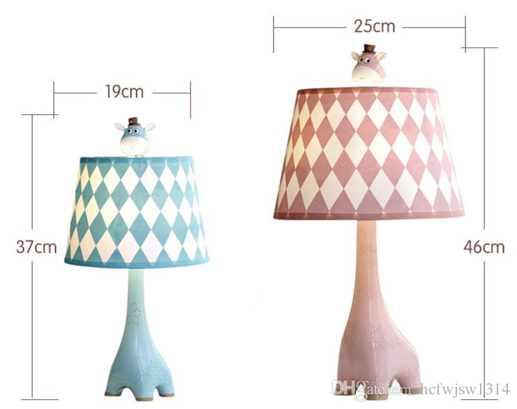Giraffe children table lamp bedroom bedside lamp cartoon creative simple modern warm dimming warm cute gift