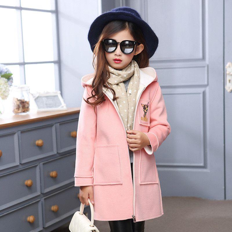 Designer Children'S Girls Clothes Autumn/Winter Girls Trench Coat ...
