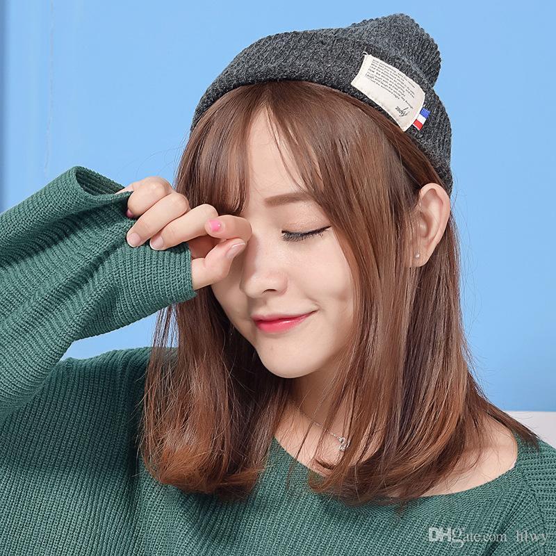 Großhandel Korean Fashion Lovers Warm Im Herbst Und Winter Hut Flut ...