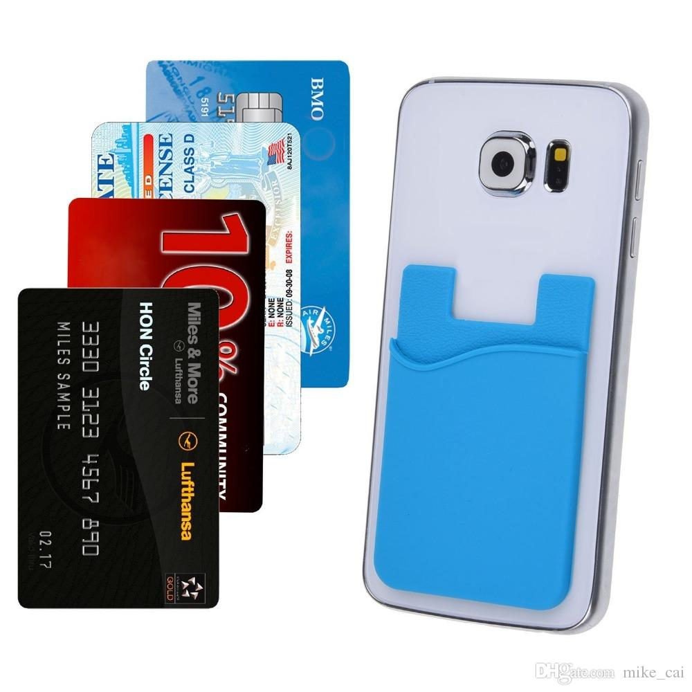 2018 customized logo 3m sticky phone wallet silicone self adhesive pocket card holder silicone card holder adhesive for iphone6s samsung from mike_cai - Phone Card Holder Custom