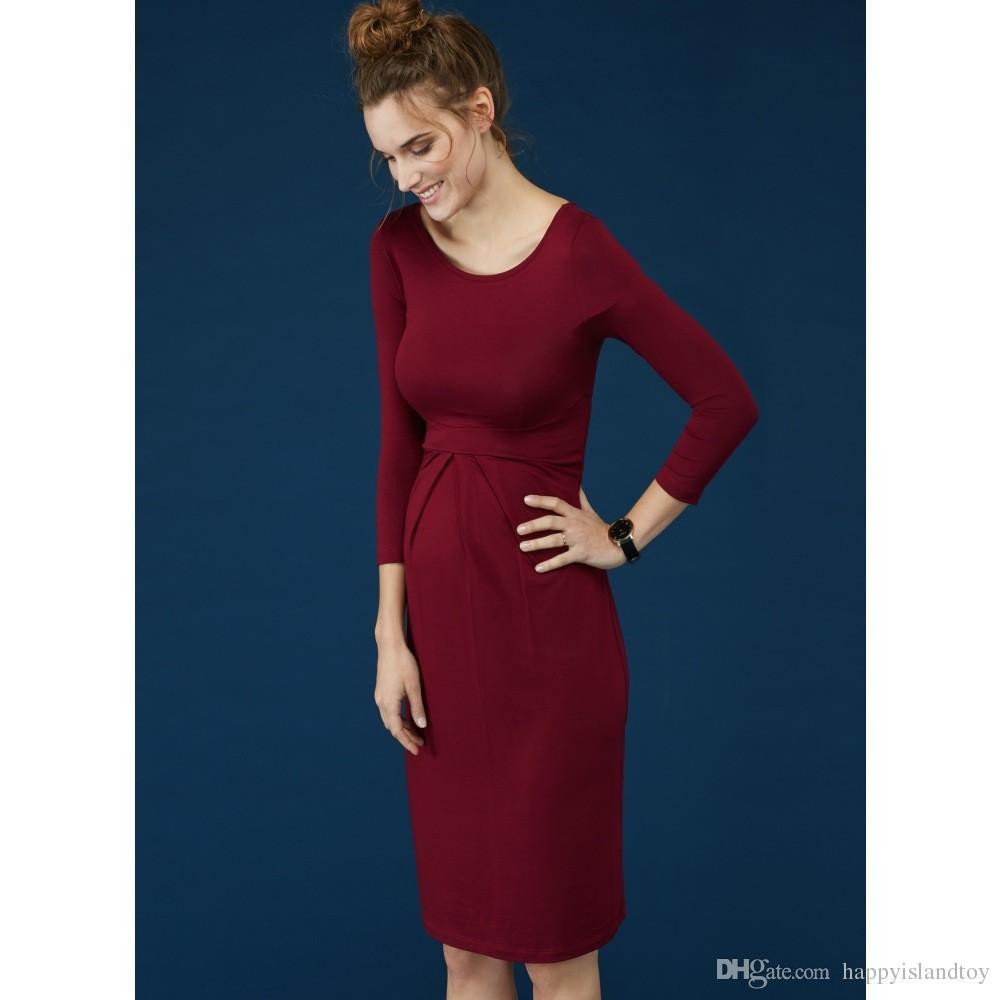 HI Bloom Summer Maternity Clothing Elegant Lady Dresses 95% Tencel+5% Lycra Office Gowns For Women Pregnancy Vestidos Clothes