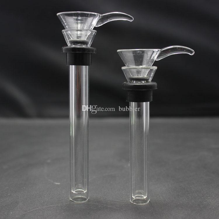 Replacement Slide for Base Water Pipes Base beakers/Straight Tubes Glass  Bowl for Glass Bong Different length