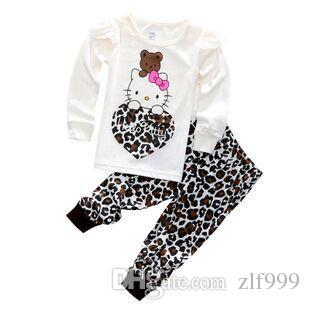1d0def0df New Clothing Set Toddler Baby Boy Hello Kitty Clothing Sets Outfits Cartoon  Print T Shirt And Pants Cute Boy Girls Pajama Matching Kids Christmas  Pajamas ...