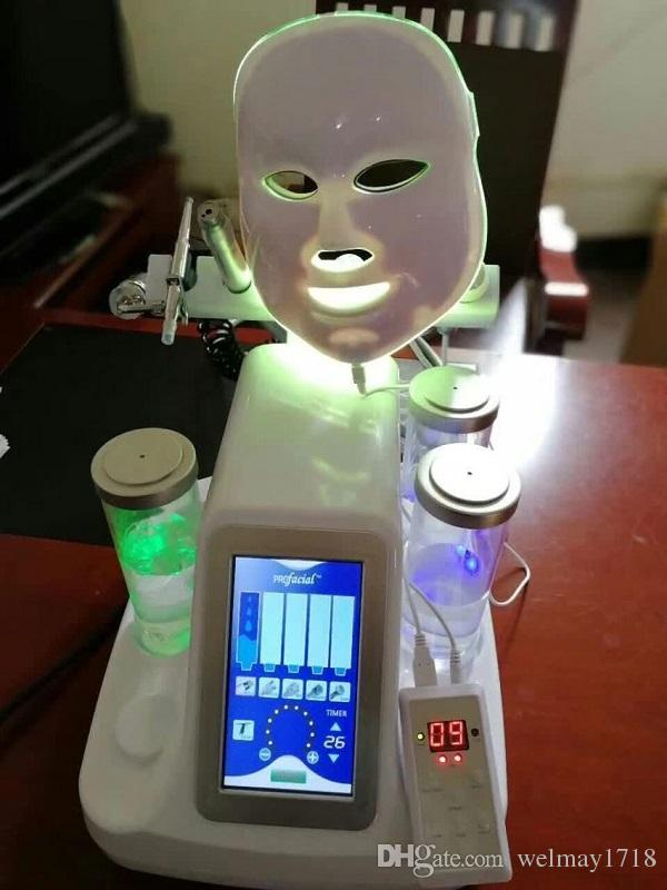 7 in 1 führte Maske und Sauerstoff-Infusion Schönheitspflege Gesicht Reinigung Sauerstoff Jet Peel Machine