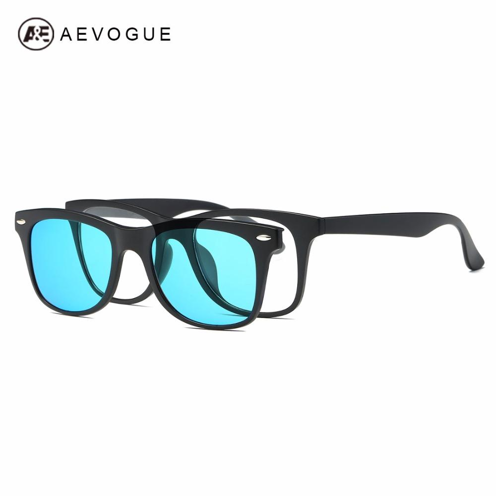 2f9528bd00 Wholesale- AEVOGUE Magnetic Clip Polarized Sunglasses Mens Optiacal ...