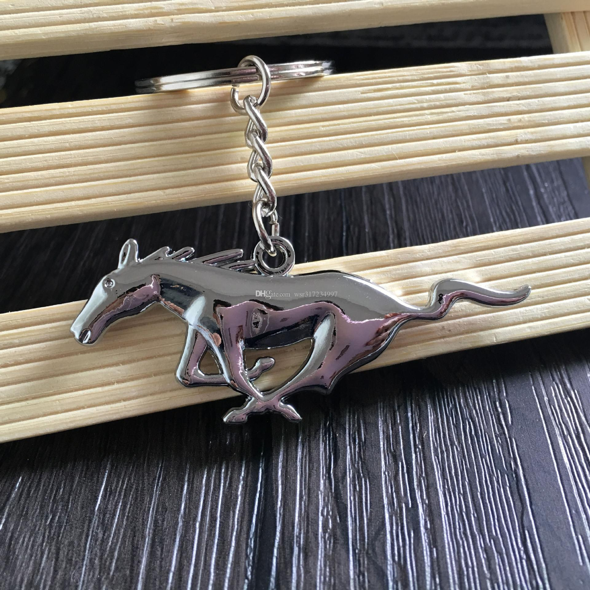 3D Fashion keyring for Ford Mustang Logo Keychain personality Logo Pendant car Mustang logo emblem key chain 4S shop sales promotion gift