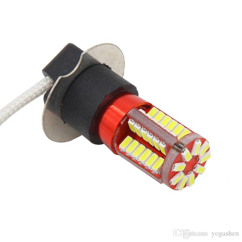 H3 3014 White 57LED Tail Turn Brake Head Car Light Lamp Bulb Fog Light Daytime Running headlight Light 12V Motorcycle Lamp
