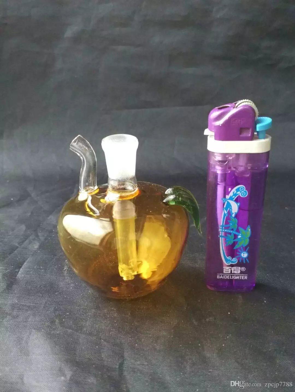 Многоцветные яблочные колпаки стеклянные бонги аксессуары, оптовые стеклянные бонги аксессуары, стеклянный кальян, водопроводная труба дым бесплатная доставка