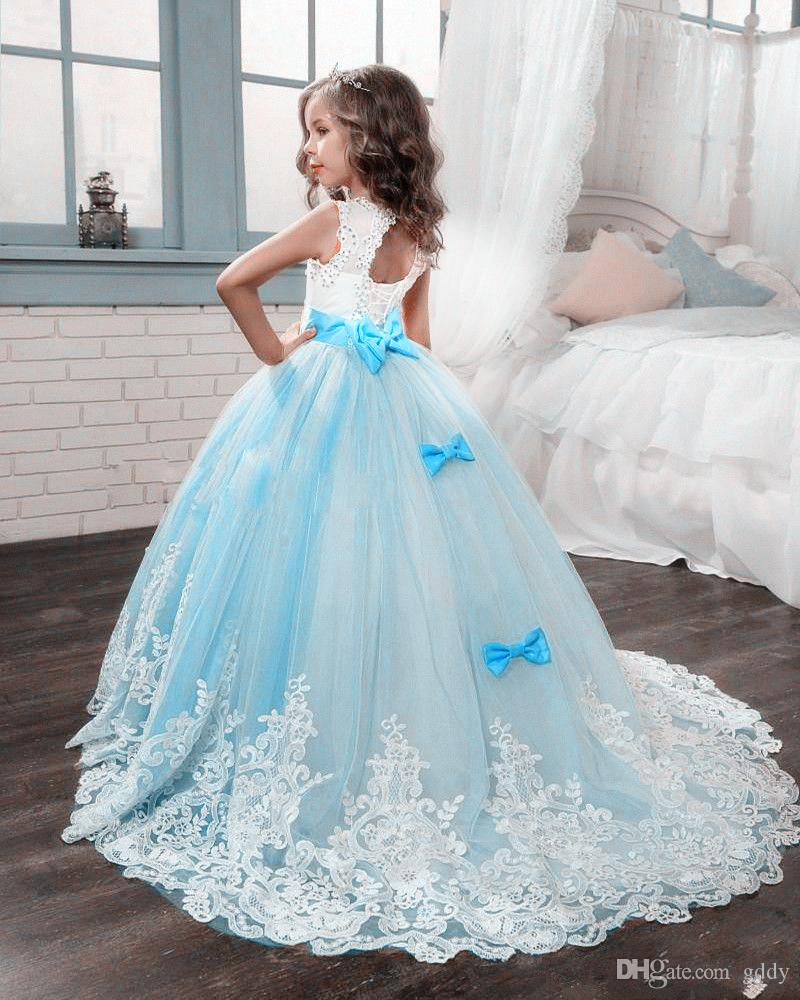 50955439503 Cinderella Flower Girl Dresses Ball Gown Beauty Pageant Gowns Off The  Shoulder Tulle Crystals Lace Up Vestido De First Communion Flower Girl  Dresses Cheap ...