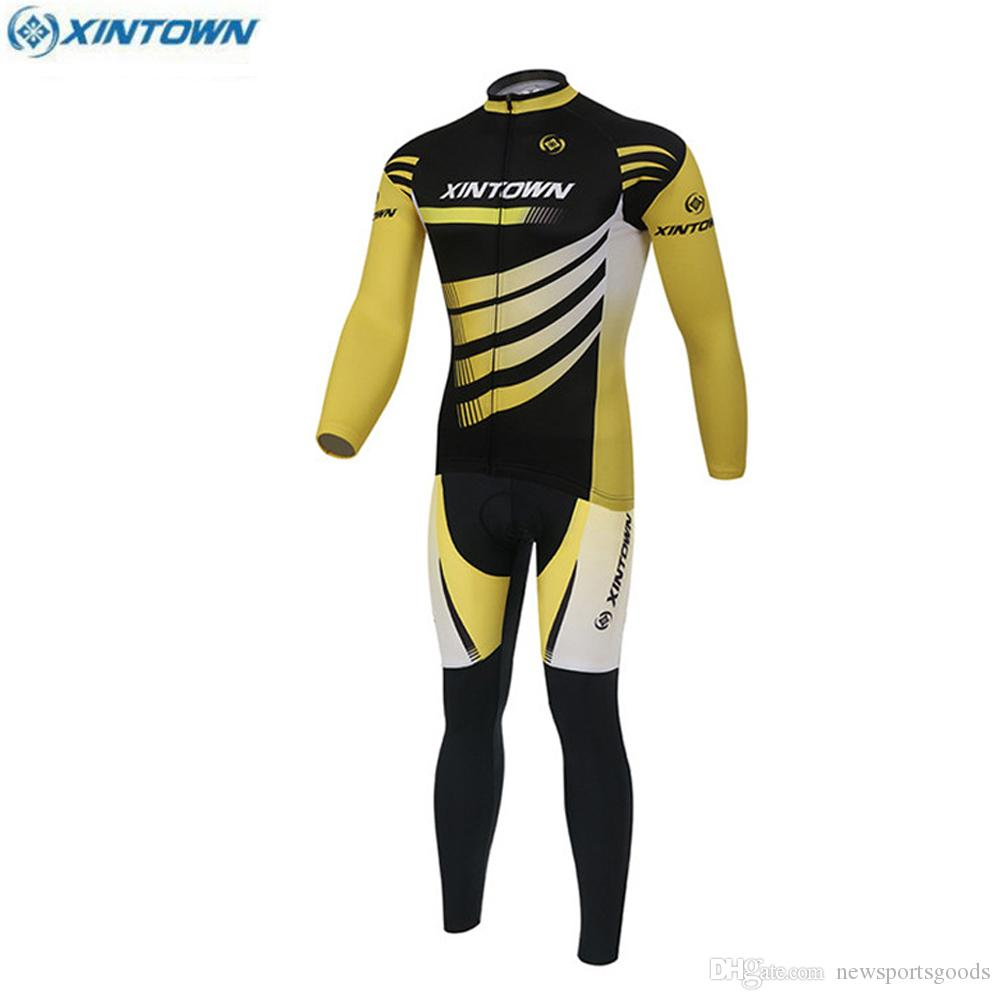 9151df1fd New Brand XINTOWN Autumn Winter Team Cycling Clothing Set Ropa ...