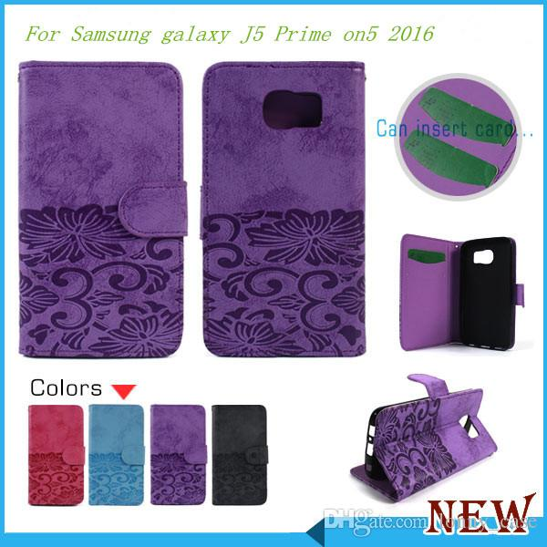 Wallet cover cell phone flip leather case For Samsung galaxy J5 Prime on5 2016 J7 Prime on7 2016