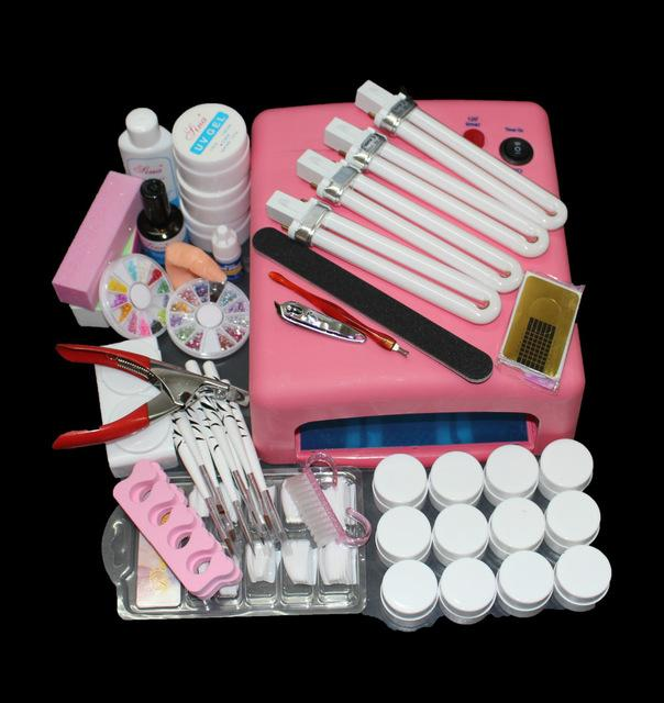 Wholesale Uc 91 Nail Art Tool Full Set Uv Gel Kit Brush Nail Dryer ...