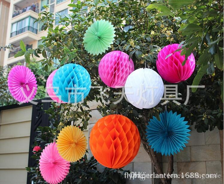 Cheapest!!!4-10 inches honeycomb ball 2017 wedding props supplies wedding party layout shopping mall window decoration, d03