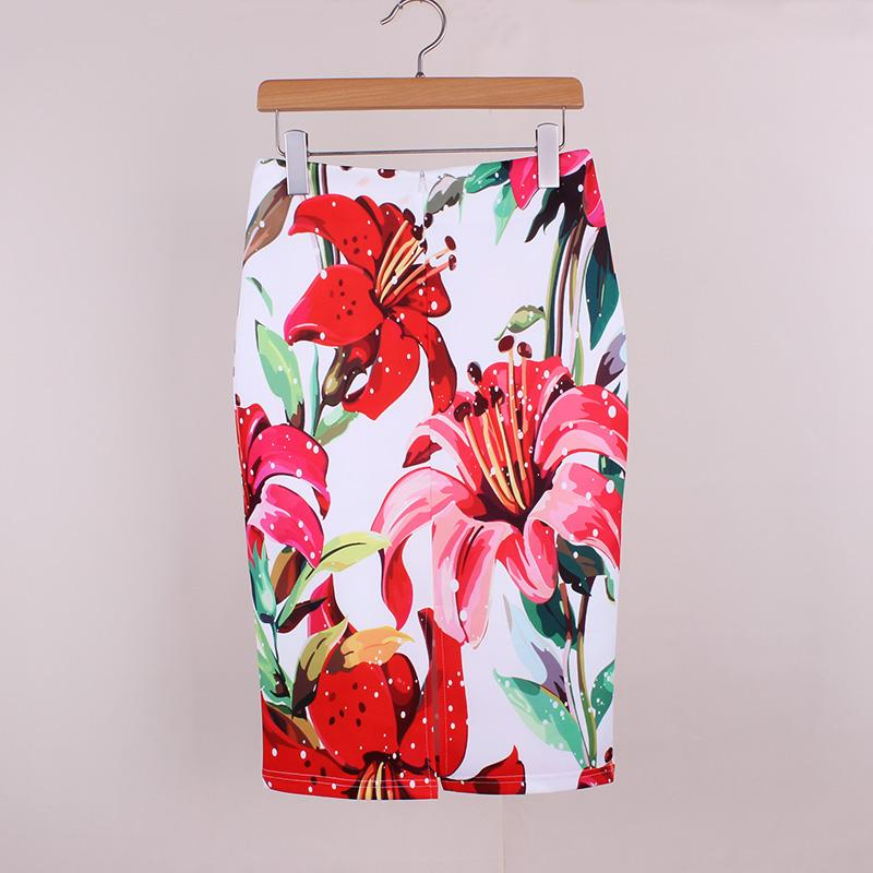 cbb58ac26 M-XXL 3D Flower Print Women Pencil Skirts 2017 New Fashion Lady Slim Faldas  Vogue Girls Casual Bottoms Drop Shipping Wholesale Online with $7.19/Piece  on ...