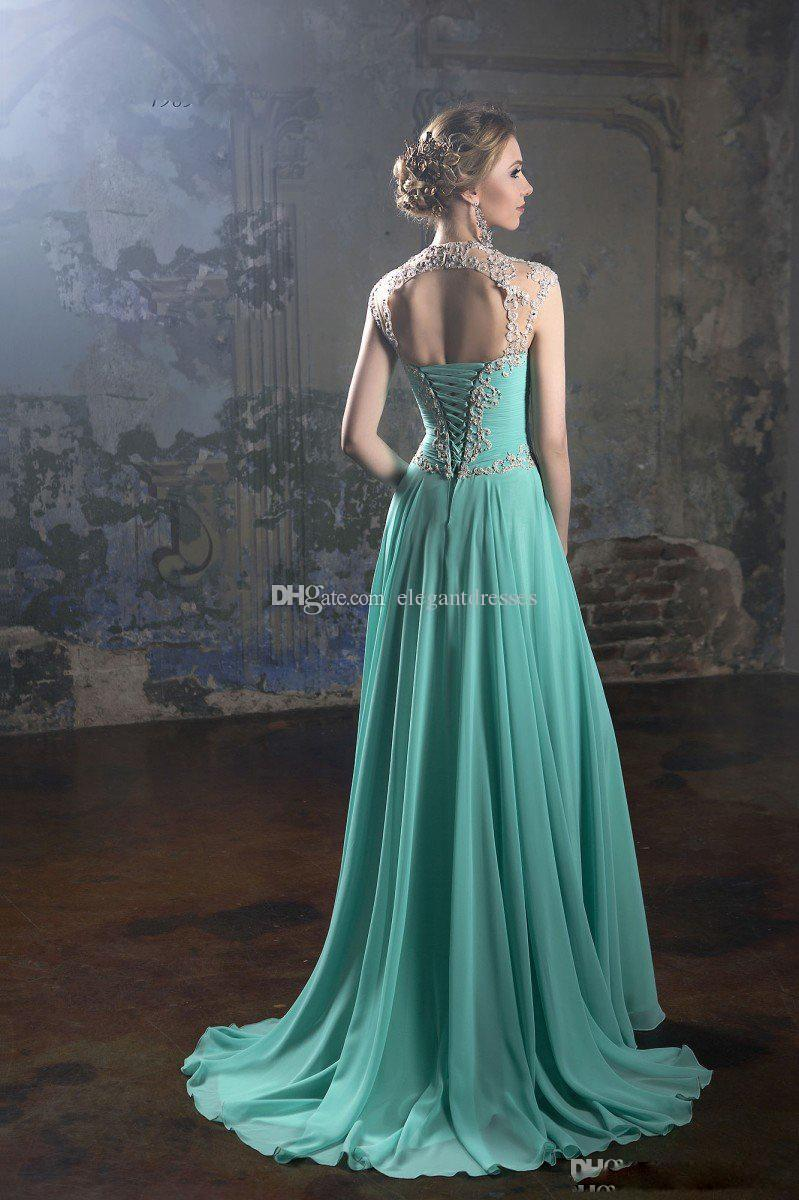 Belfaso 2017 Cheap Prom Dresses Sexy Appliqued Beads A Line Plus Size Hollow Back Formal Evening Gowns Cap Sleeve Fast Shipping