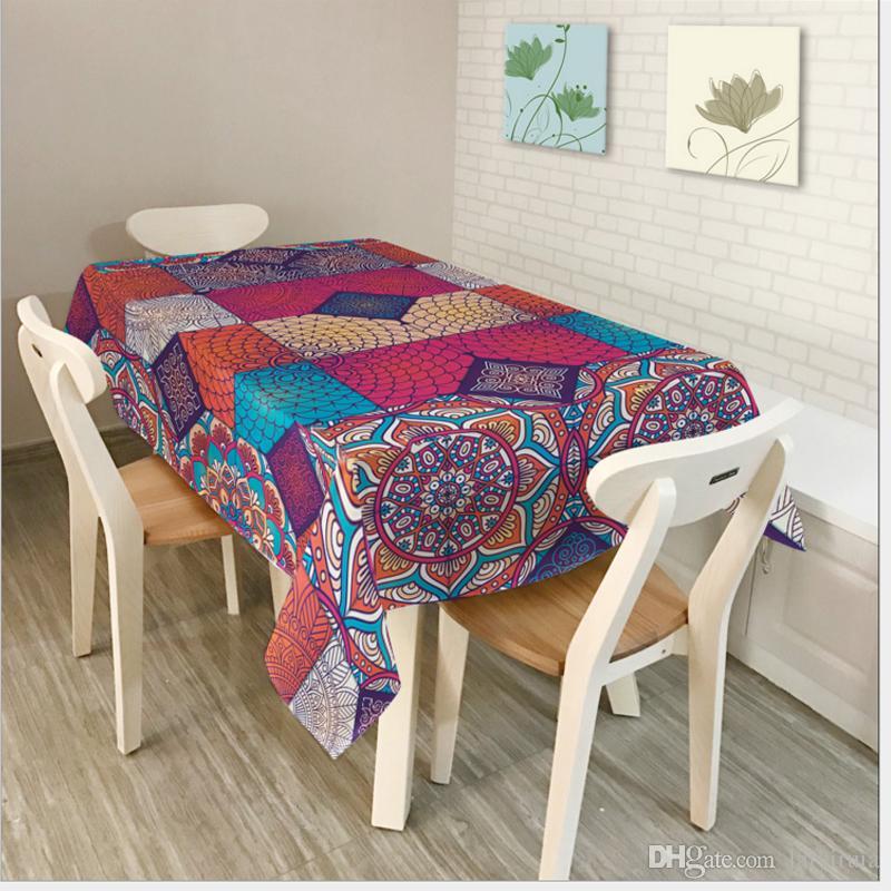 Toalha De Mesa Nappe Rectangulaire Round Tablecloth Table ...