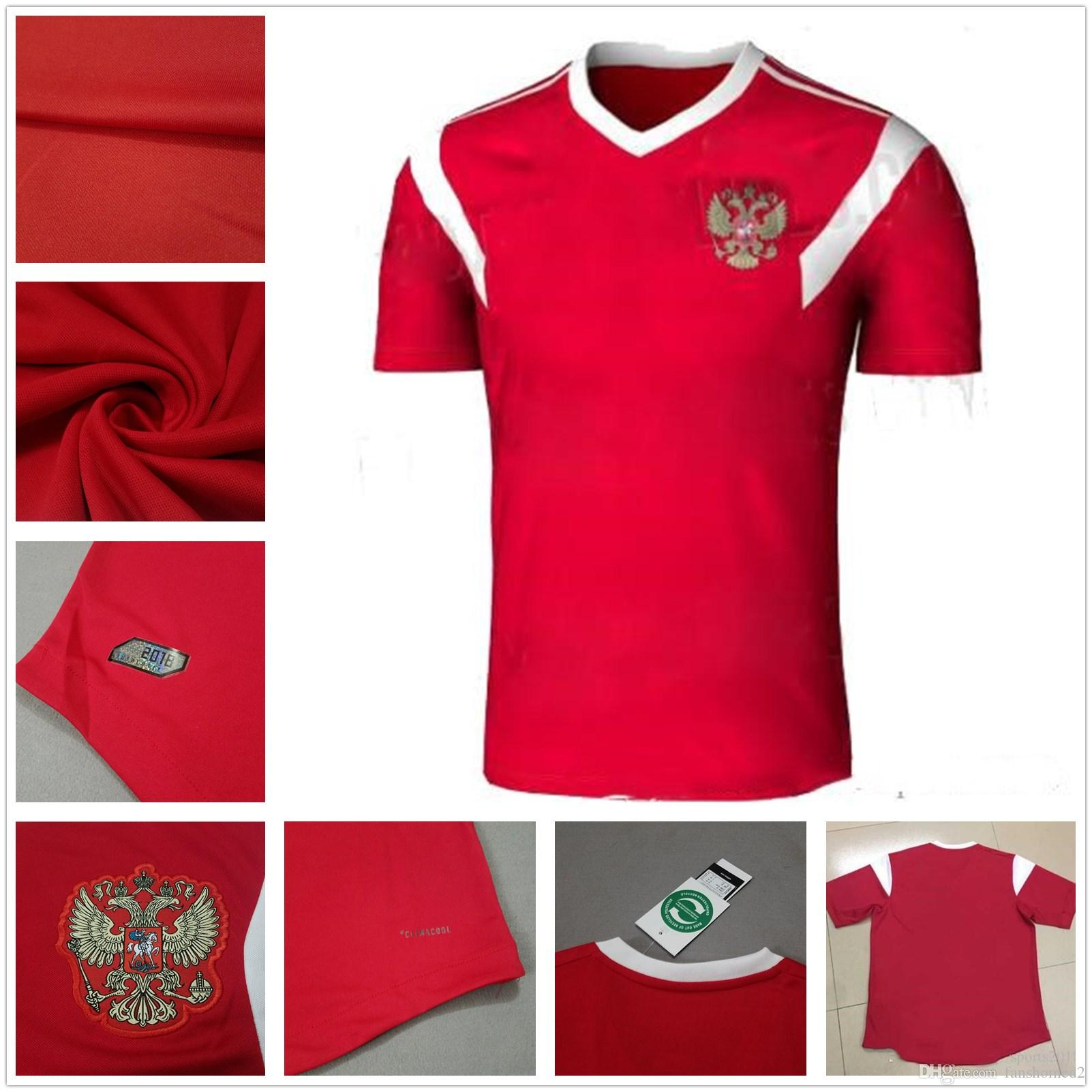 2f5de0940c0 2019 2018 World Cup Russia Jerseys  10 ARSHAVIN 11 KERZHAKOV 14  PAVLYUCHENKO 17 DZAGOEV Home Red Jersey 2018 19 Football Jersey From  Fanshomed2