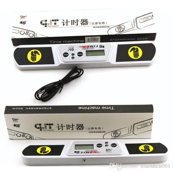 QJ Alta Velocidade Temporizador Máquina Do Relógio para Cubo Mágico Preto / Branco Acessório Cubo para Competição Jogo Temporizador Máquina Frete Grátis