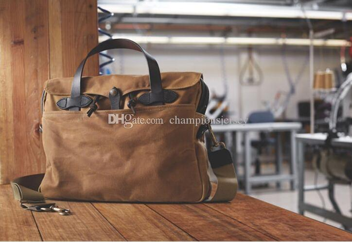 3630bedb13de Akarmy canvas casual shoulder bag European and American men s briefcase  computer bag high-end 22OZ double-sided twill