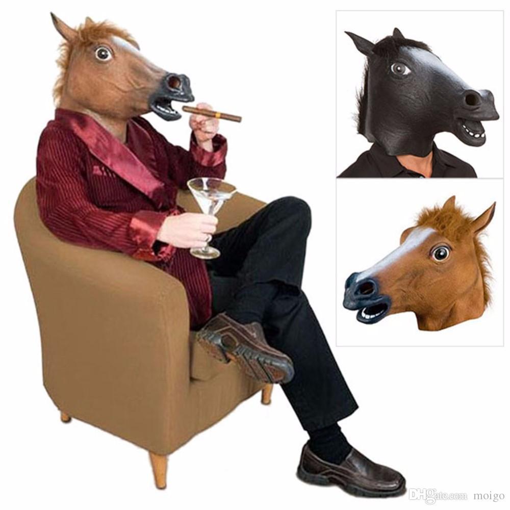 مخيف يونيكورن الحصان الحيوان رئيس اللاتكس قناع هالوين زي مسرح المزحة الدعامة مجنون حزب قناع الساخن بيع