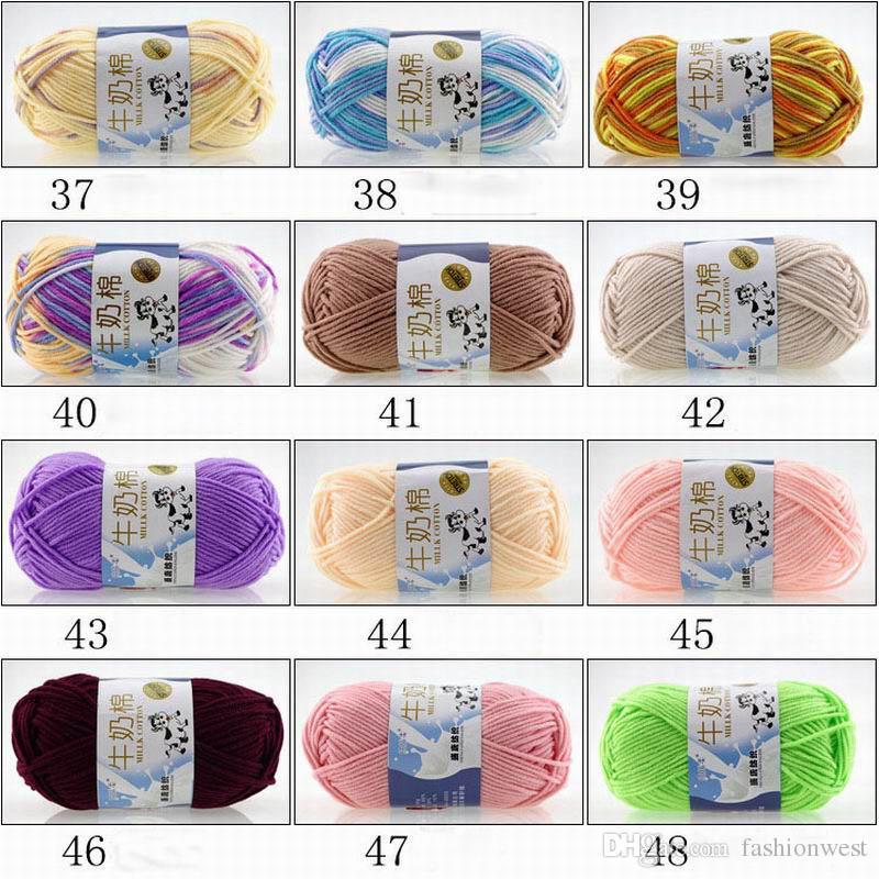 Strickgarn Schicke weiche Baumwolle Bambus Häkelarbeit Stricken Baby Strickwolle Garn Neue klobige handgewebte Farben Stricken Partituren Wolle Garn