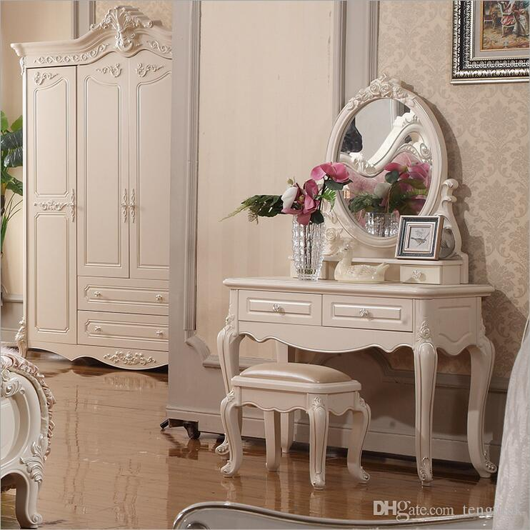 Charmant 2018 Factory Price Royal European Mirror Table Modern Bedroom Dresser French  Furniture White French Dressing Table O10323 From Tengtank, $562.82 |  Dhgate.