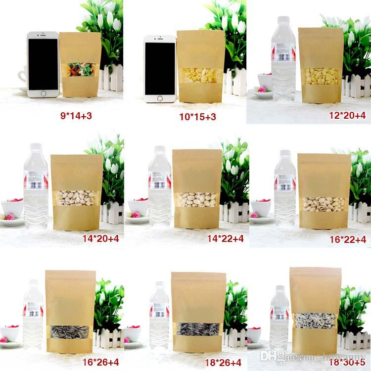 Paper Packing Bags Clear and white pearl Poly OPP Packing Zipper Zip Lock Packages Jewelry Food PVC Plastic Bag Different Size 0593WH