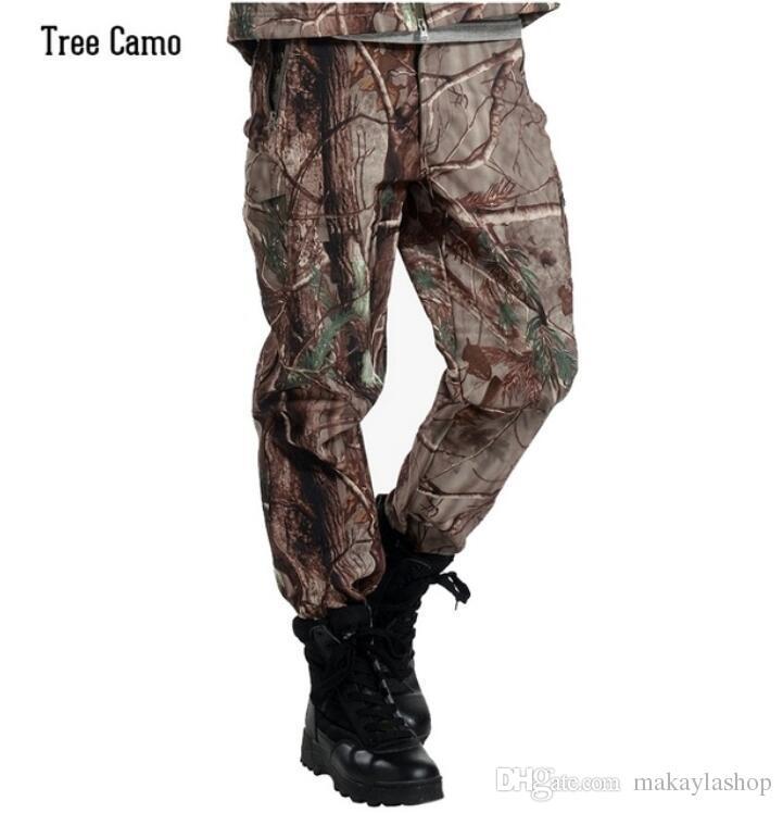 Winter Shark Haut Soft Shell Taktische Militärische Camouflage Hose Männer Winddicht Wasserdichte Warme Camo Armee Fleece Hosen Hosen Mutter & Kinder
