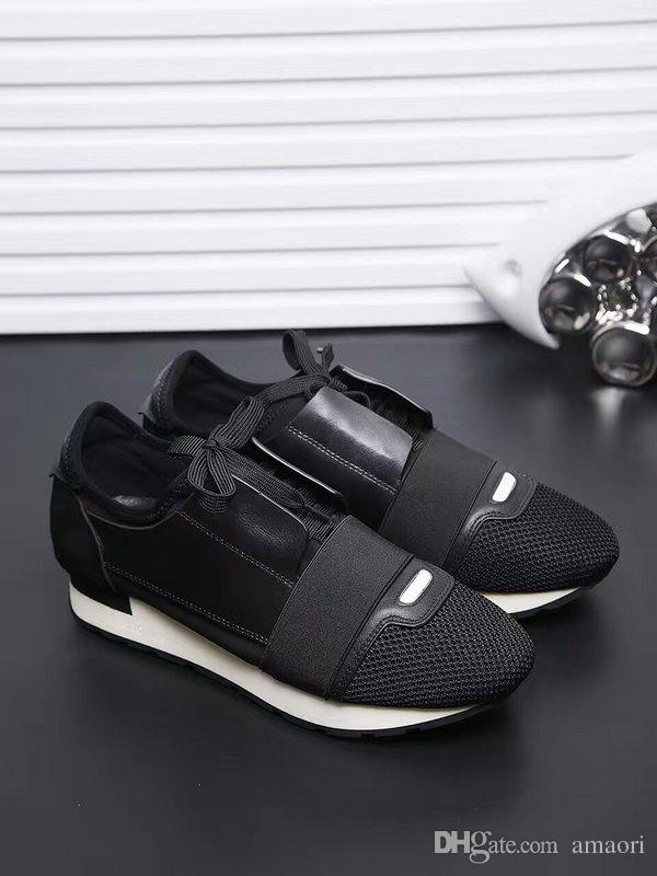 bb92b8567d3 DESIGNER SHOES MENS CASUAL SHOES 2019 NEW BRAND CHEAP FASHION FLATS RUNNERS  RACER LUXURY SHOES WOMENS Canada 2019 From Amaori